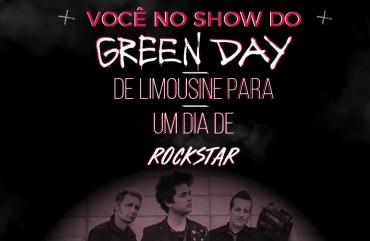 Você no show do Green Day de limousine para um dia de Rockstar