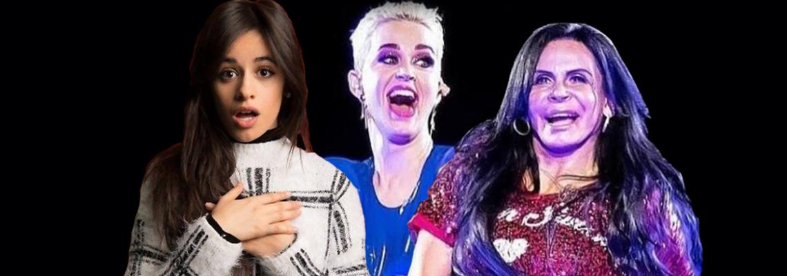 Camila Cabello empurrada e o encontro de Katy e Gretchen