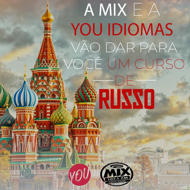 A Mix e a You Idiomas vão dar para você uma bolsa de Russo