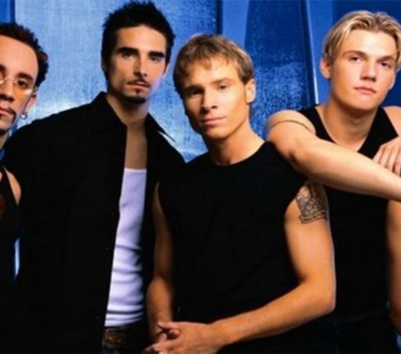 "Tiozões Backstreet Boys lançam música ""Don't go breaking my heart""."