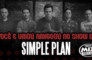 Você mais um amigo ou amiga no show do Simple plan