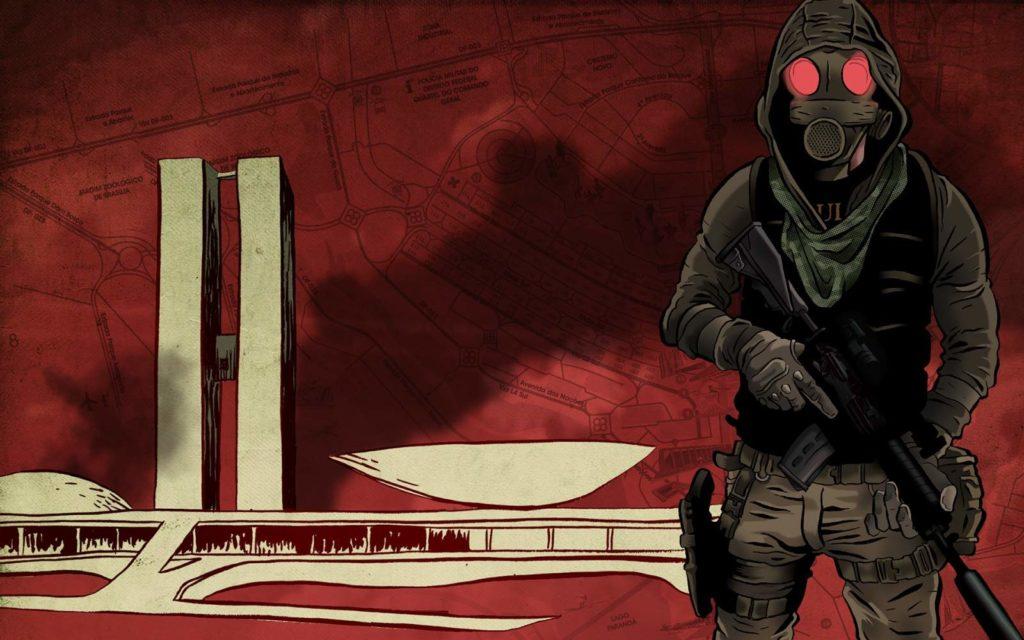 Ilustração da HQ de O Doutrinador